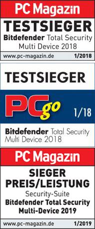 Bitdefender - Testsieger 2018 / 2019