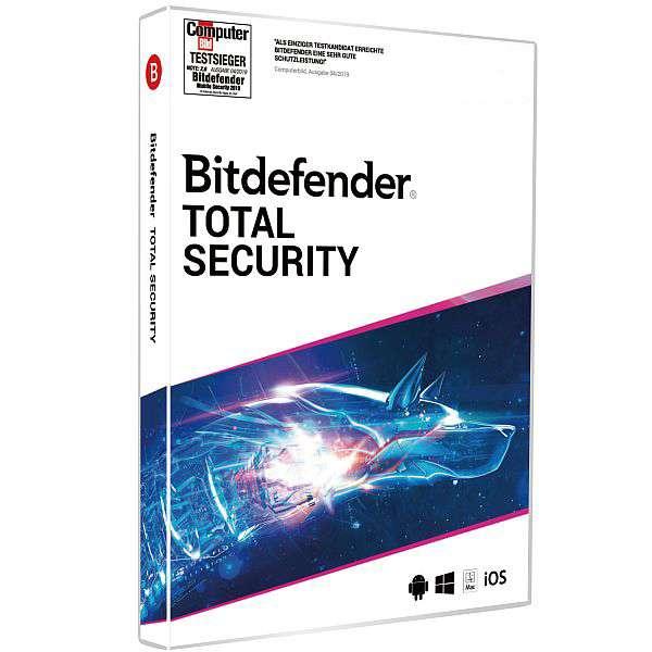 Bitdefender Total Security 1, 3 oder 5 Geräte